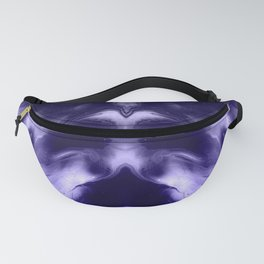 abstract psychedelic paint flow ghost face c8 Fanny Pack