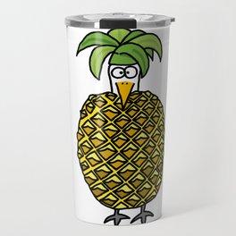 Eglantine la poule (the hen) dressed up as an pineapple Travel Mug
