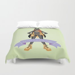 Fight Like a Girl: Batgirl Duvet Cover