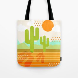 Blazin' - retro vibes southwest socal desert minimal 70s colors throwback 1970's art Tote Bag