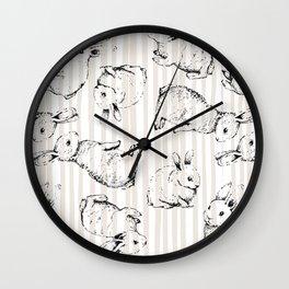 Vintage Bunnies Wall Clock
