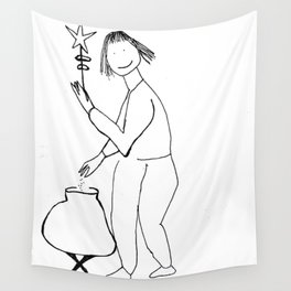 Cauldron Witch Wall Tapestry