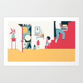 Stairs - (My Dad Used To Be So Cool) Art Print