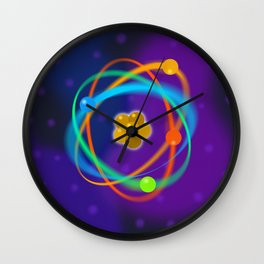 Atomic Structure Spots Wall Clock