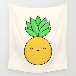 Happy Pineapple Wall Tapestry