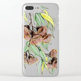 Flowering Red Gum Clear iPhone Case