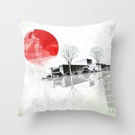 Waking to Winter Throw Pillow