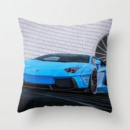 Lambo Aventador Throw Pillow