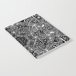 mandala mystery bw Notebook