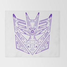 Decepticon Tech Purple Throw Blanket