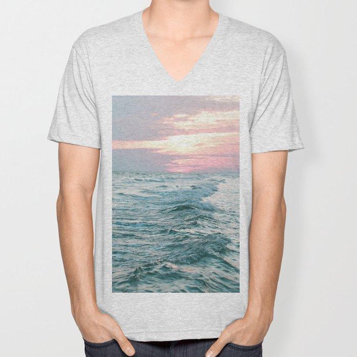 Ocean Sunset Unisex V-Neck