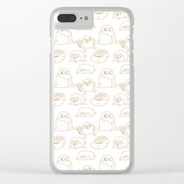 Jake Pattern Clear iPhone Case