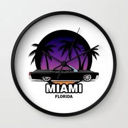 Miami muscle car Wall Clock
