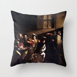 Caravaggio The Calling of Saint Matthew Throw Pillow