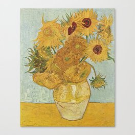STILL LIFE: VASE WITH TWELVE SUNFLOWERS - VAN GOGH Canvas Print