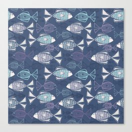 Here, Fishy Fishy Canvas Print
