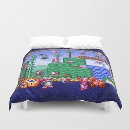 Mario Super Bros, Too Duvet Cover