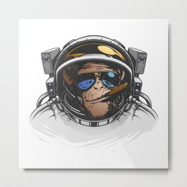 Space Monkey Metal Print