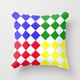 Complementary Triangles Throw Pillow