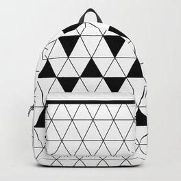 Black and White Triangular Design Backpack