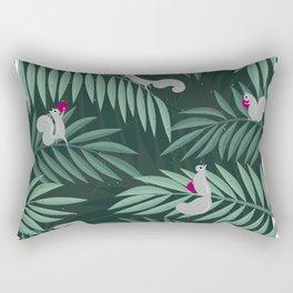 Palm Leaves & Squirrels Rectangular Pillow