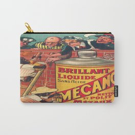 Vintage poster - Brilliant Liquide Mecano Carry-All Pouch