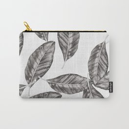 I leaf for Magnolia-Black Carry-All Pouch