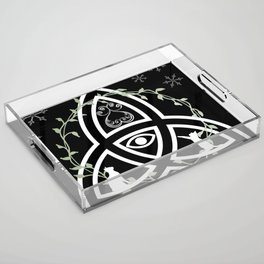 Celtic Knot, Evil Eye, and Cats Acrylic Tray