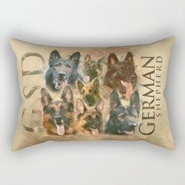 German Shepherd dog - GSD collage Rectangular Pillow