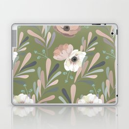 Anemones & Olives - Green Laptop & iPad Skin