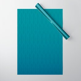 Wave pattern in teal Wrapping Paper