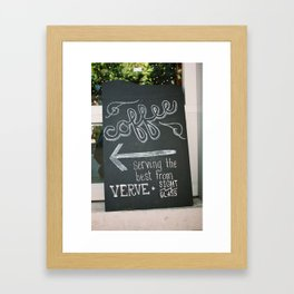 Chalkboard Coffee Sign Framed Art Print