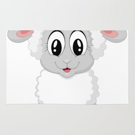 Cute Lamb Sheep Rug