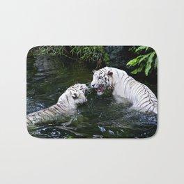 Tigers Fight Bath Mat