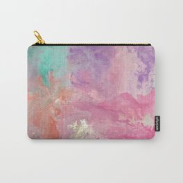 In between loves | Boho | Fluid Art | Pink Carry-All Pouch