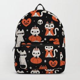 Halloween Kitties (Black) Backpack