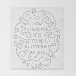 Neutral Milk Hotel - How Strange It Is To Be Anything At All Throw Blanket