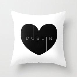 I left my heart in Dublin Throw Pillow