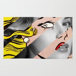 Roy Lichtenstein's Crying Girl & Grace Kelly Rug