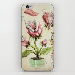 Piranha Plant Botanical Illustration iPhone Skin