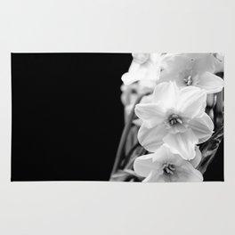 Daffodils in B&W Rug