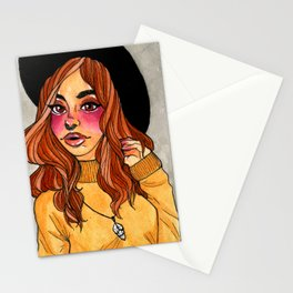 Fall Witch Stationery Cards