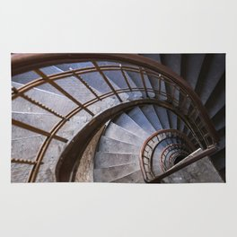Old steel spiral staircase Rug