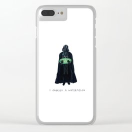 Vader Carries A Watermelon Clear iPhone Case