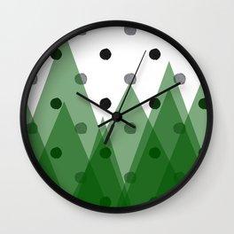 Christmas mountains Wall Clock