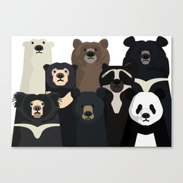 Bears of the world Canvas Print