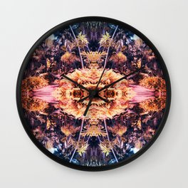 Acid Tropic Kaleidoscope Wall Clock