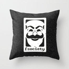 FSociety Throw Pillow