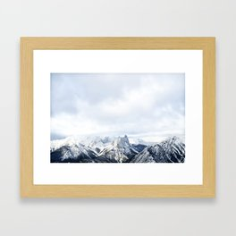 Looking out over the Rockies, in Banff Framed Art Print