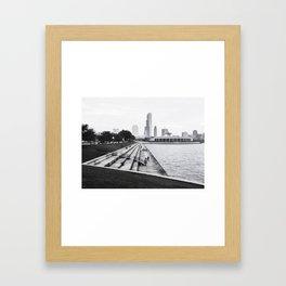 Along the Lakefront Framed Art Print